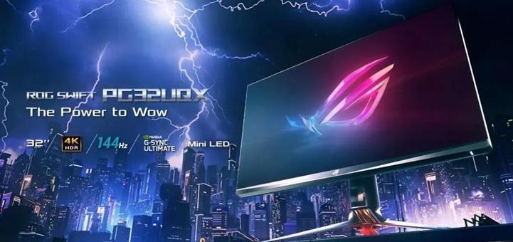 华硕推出Mini LED电竞显示器 搭载32英寸屏幕+英伟达G-Sync认证