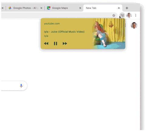 谷歌正在Chrome添加新按钮 可查看正在播放的媒体