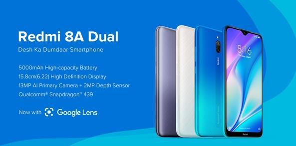 Redmi 8A Dual在印度推出 搭载5000mAh电池售价636元起