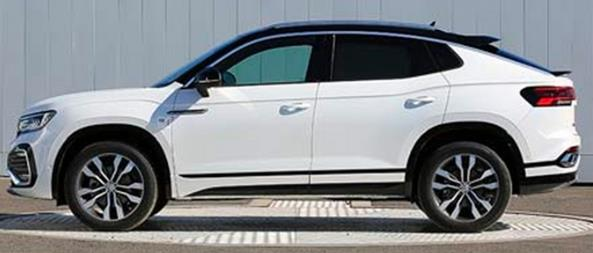 大众探岳X现身新车申报目录:跨界轿跑SUV外观拉风
