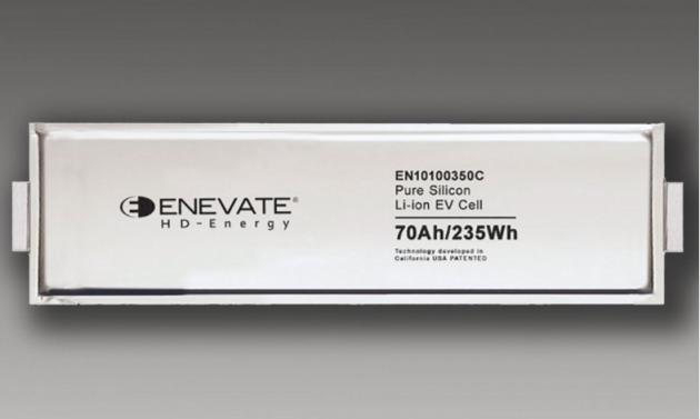Enevate硅阳极电池将为电动汽车带来超快、安全充电