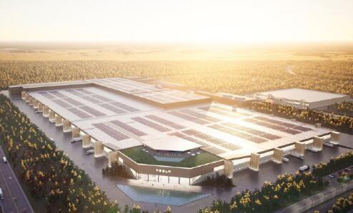 马斯克晒特斯拉柏林超级工厂 引发网友关注